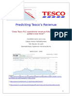 Predicting Tesco's Revenue (Extended Essay)