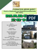 Newcastle Parish News, Wicklow Ireland March 2016