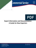 USDeptOfCommerceexport Doc Guide