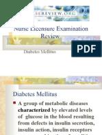 diabetes mellitus teaching plan