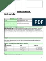 horror production-schedule
