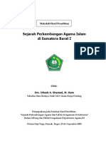 Sejarah Islam Di Sumatera Barat I