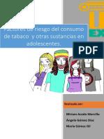 Factores de Riesgo Del Consumo de Tabaco en Adolescentes