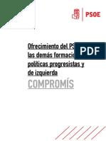 Documento Oferta PSOE a Compromís