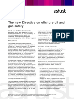 EU directive on offshore oil and gas safety
