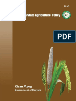 Haryana State Agriculture Policy Draft