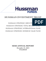 Hussman Funds Semi-Annual Report