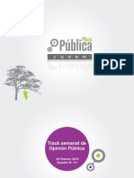 Encuesta Plaza pública Cadem sobre popularidad de Bachelet
