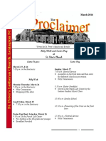 March 2016 Proclaimer