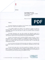 Lettre de Florence Berthoud, maire du Ve (Paris)
