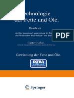 Gustav Hefter (Eds.)] Technologie Der Fette Und Öle