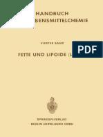 Fette Und Lipoide (Lipids) - 4.Band