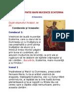 Acatistul Sfintei Marii Muceniţe Ecaterina