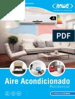 Catalogo de A/A Anwo tipo Residencial