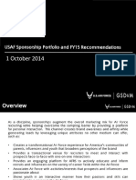 USAF Sponsorship Portfolio and FY15 Recommendations