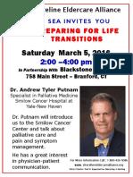 Shoreline Eldercare Alliance March 5 event
