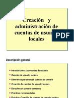 Creacion y Administracion de Cuentas de Usuario Locales