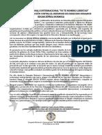 COMUNICADO de denuncia y respaldo caso Edgar Zúñiga Hormiga