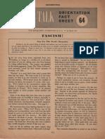 Army Orientation on Fascism