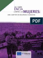 Informe Regional Sobre Violencia Contra Las Mujeres- Una Cuestión de Seguridad Ciudadana