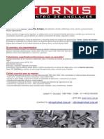 Fornis - Normas DIN - Bulonería y Afines