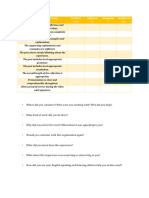 Service Learning Reflection Rubric
