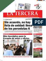 Diario La Tercera 29.02.2016