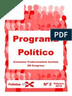 Folletos CTC Nº 2 Programa Político DIGITAL