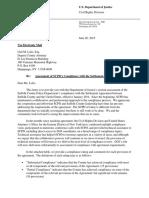 DOJ Response to SCPD Compliance Report (6/26/15)