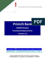 PrimusBank Admin FRS v 2.0