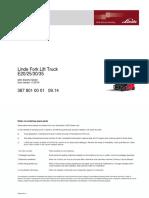 parts list linde e20/25/30/35