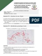 Examen de Robotique Master II CSM 2015
