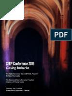 2016 CEEP Conference Closing Eucharist