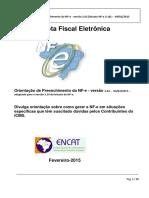 Orientação de Preenchimento Da NF-e - Versão 2.02