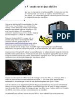 Choses importantes à savoir sur les jeux vidéo