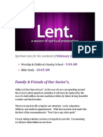 Lent 3 - Weekly Update
