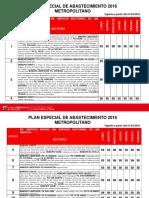 Plan de Abastecimiento Metropolitano 2016