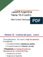 TEMA 10-3 - Tecnicas Control de Pozos