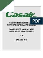 Casair  CPNI COMPLIANCE MANUAL.doc