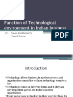 Function of Technological Environment in Indian Business