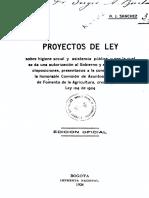 Proyecto de Ley Higiene Social y Asistencia Social 1924