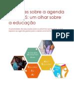 Reflexões Sobre a Agenda Pós 2015_Um Olhar Sobre a Educação