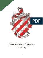 Subtraction Cutting School Book  Subtraction Cutting School Book
