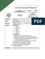 SPO IDENTIFIKASI PASIEN SAAT PEMBERIAN OBAT REVISI 250815.docx