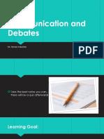 communication and debates