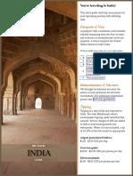 India Pre Travel Guide