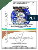 Ppgca 2009 Caderno Proficiencia Ingles