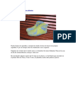 Tutorial de Zapatos de Fieltro