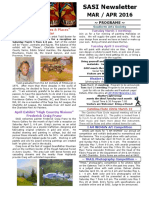 March-April SASI Newsletter 2016