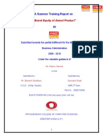 Surendra Singh FINAL research REPORT on Anmol Bakers Pvt.ltd.